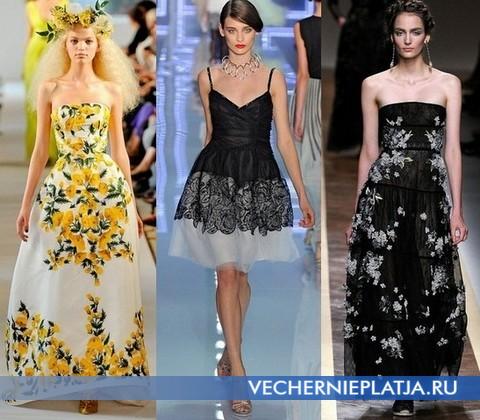 b682483ee088 Takéto šaty v hojnosti boli prezentované na prehliadkach módnych domov  Oscar de la Renta