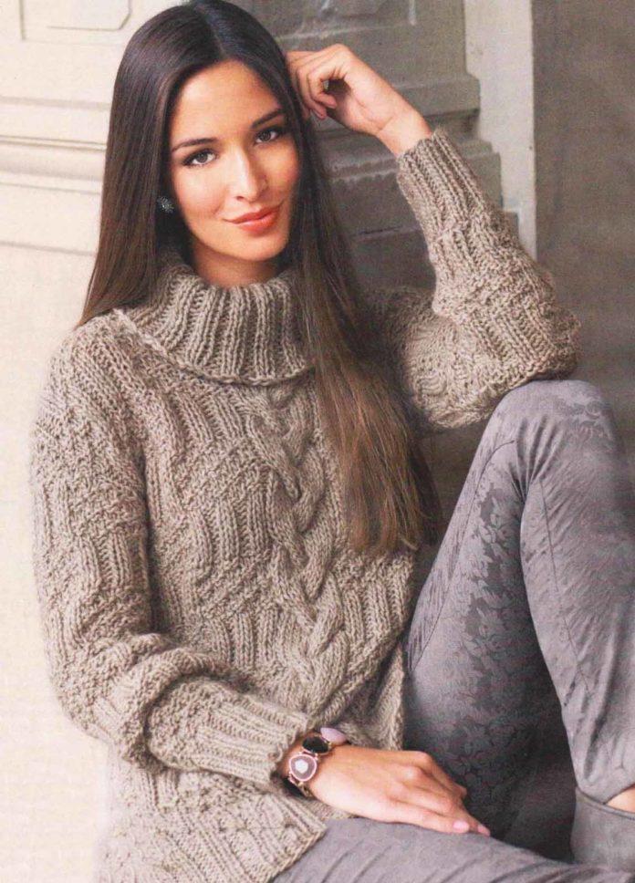 bca5c1f41d32 1. miesto v našom Top 15 populárne pletené svetre a pulóvre s pletenými  ihličkami na rok 2016zaberá veľkú rezervu (počet zobrazení 3859).