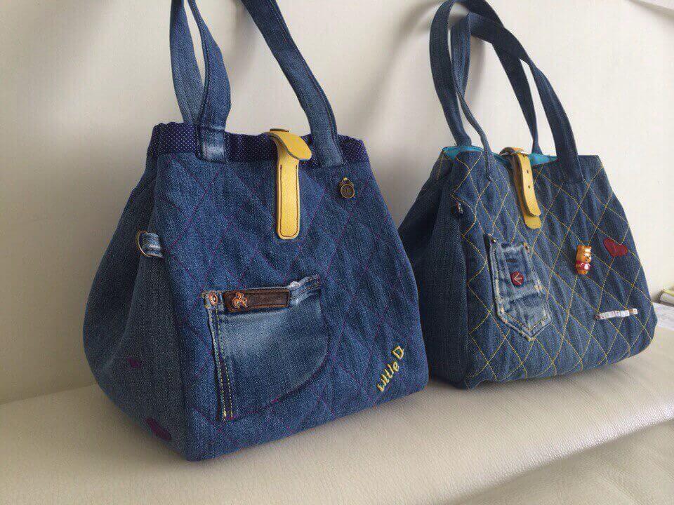 7cc28efaab6e Почему многим нравятся сумки из джинсов? Во-первых, они лёгкие, и прочные.  Во-вторых, такая вещь — незаменима, если вы идёте в магазин, на прогулку,  ...